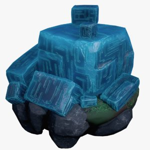 3D realistic crystal runes model