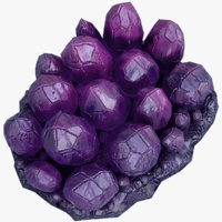 realistic crystal purple 3D model