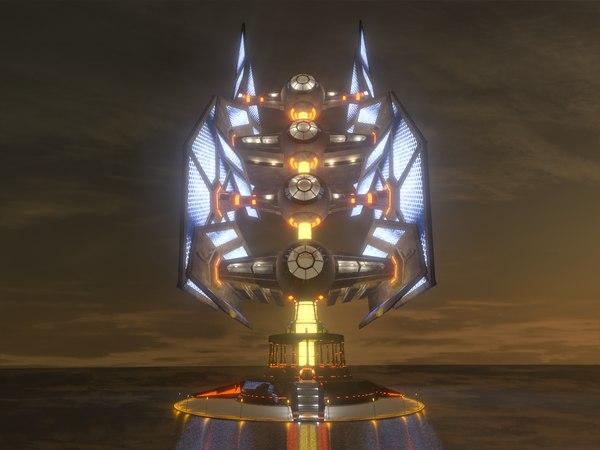 building skyscraper fighters star wars 3D model