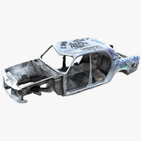 3D wrecked car 2 model