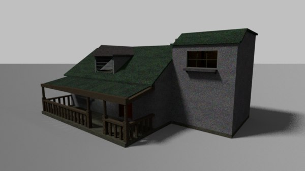3D ranch house model