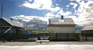 russian village house model