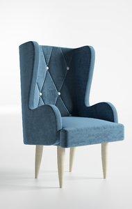 seat blue 3D model