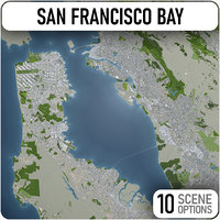 san francisco bay area 3D model