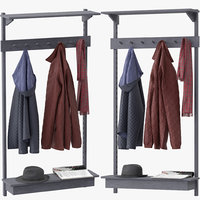 3D unit coat rack stattmann model
