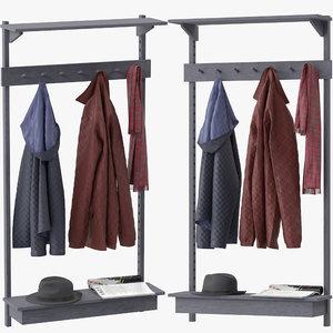 3D unit coat rack stattmann model