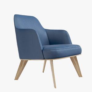3D model chair poliform jane armchair