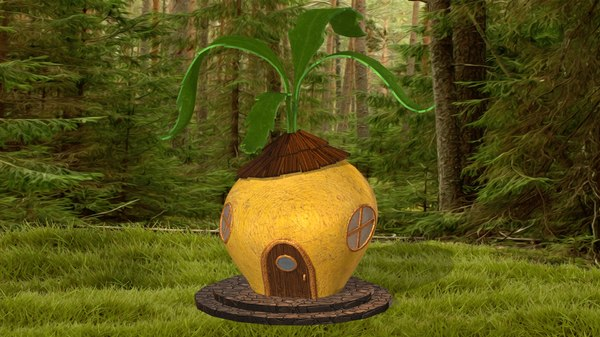 3D cartoon turnip house