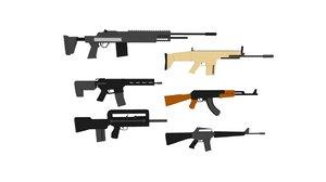 pack assault rifles model