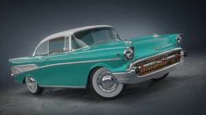 3D chevrolet 1957 car original model