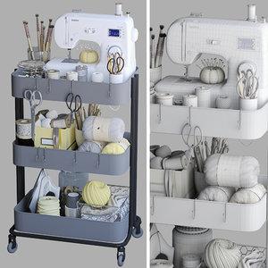 pushcart decorative 3D model