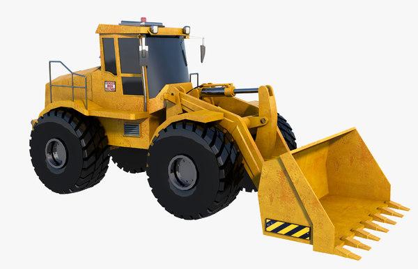 3D excavator x model