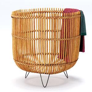 palos knitted basket towels 3D model