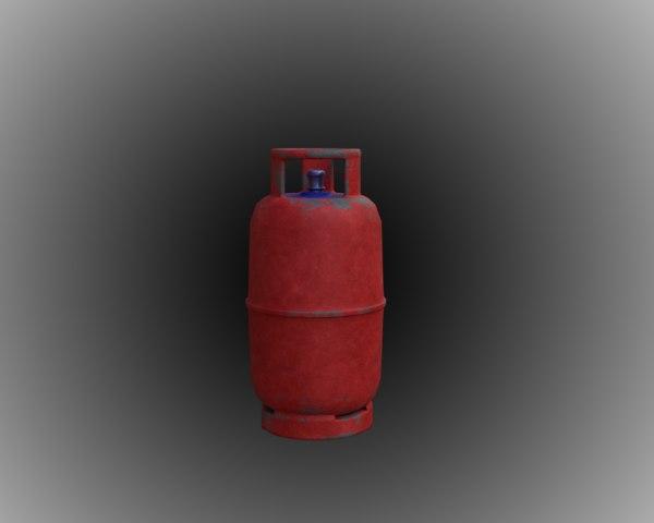 old gas cylinder 3D