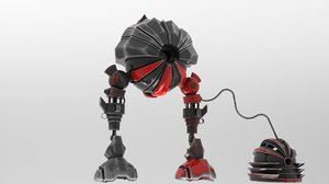3D object alien robot model