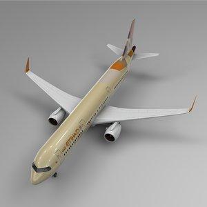 airbus a321 neo etihad 3D model