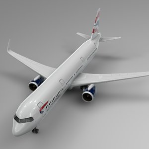 3D airbus a321 neo british airways model
