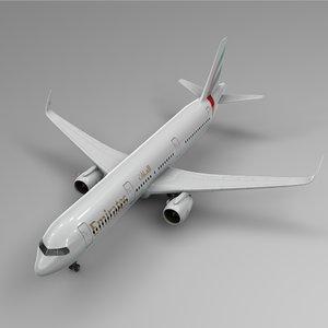 airbus a321 neo emirates 3D