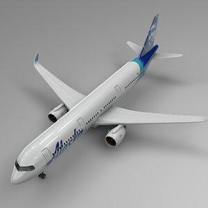 airbus 321 neo alaska 3D model