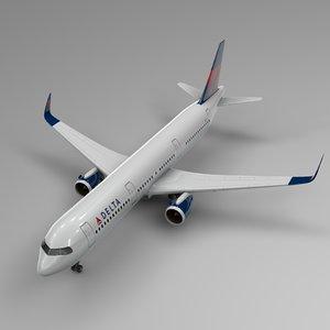 3D airbus a321 neo delta