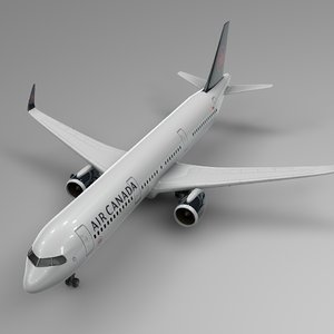 airbus 321 neo air canada 3D model