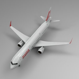3D airbus a321 neo swiss