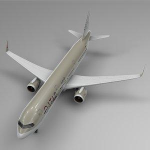 airbus a321 neo qatar 3D model