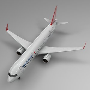 3D model airbus a321 neo turkish