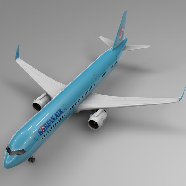 3D model airbus a321 neo korean