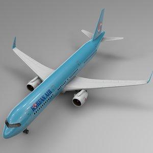 3D model airbus a321 neo korean