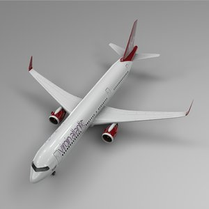 3D airbus a321 neo virgin atlantic