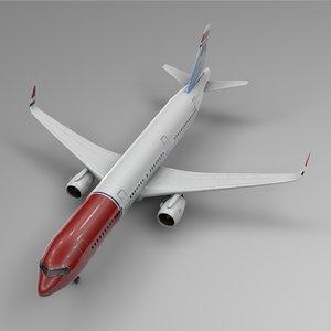 airbus a321 neo norwegian 3D model