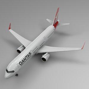 3D airbus a321 neo qantas model