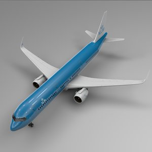 airbus a321 neo klm 3D model