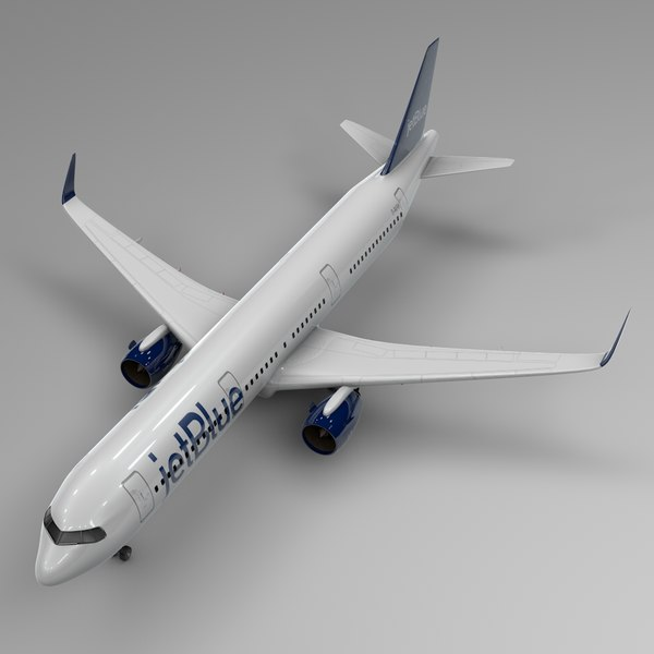 3D airbus a321 neo jetblue