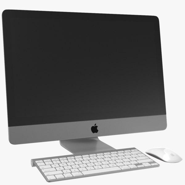 3D real apple imac monitor
