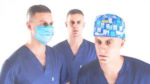 3D human doctor animation model