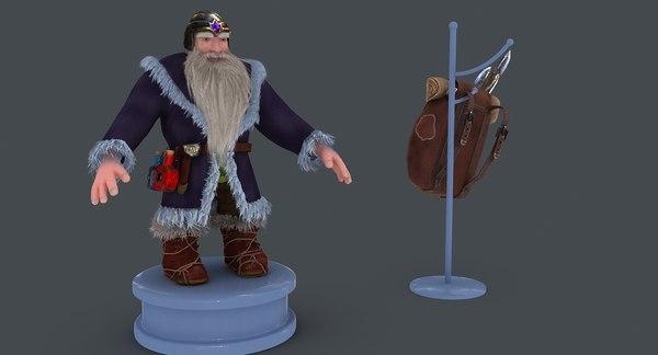 dwarf bag 3D model