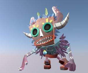 3D shaman mask