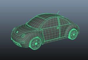 3D beetel car