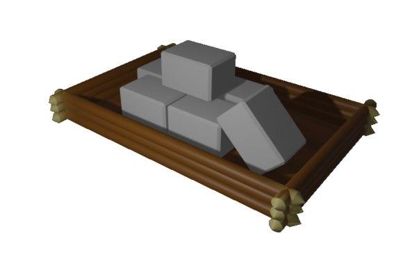 3D pile stone