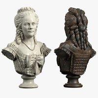 bust baroque 3D