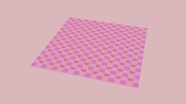 3D model blanket picnic