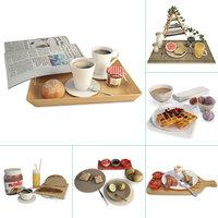sweet foods sets 3D model