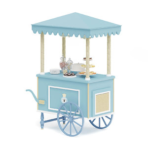 blue sweets stall 3D model