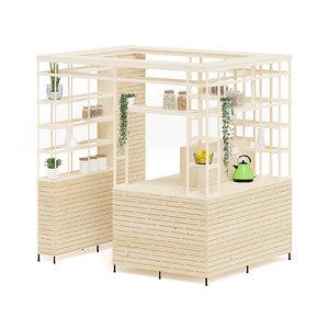 3D wooden eco kiosk