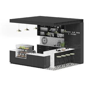3D black kiosk model
