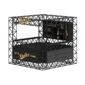 3D bar stall