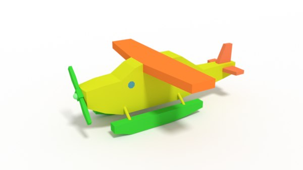 hydroplane toy 3D model