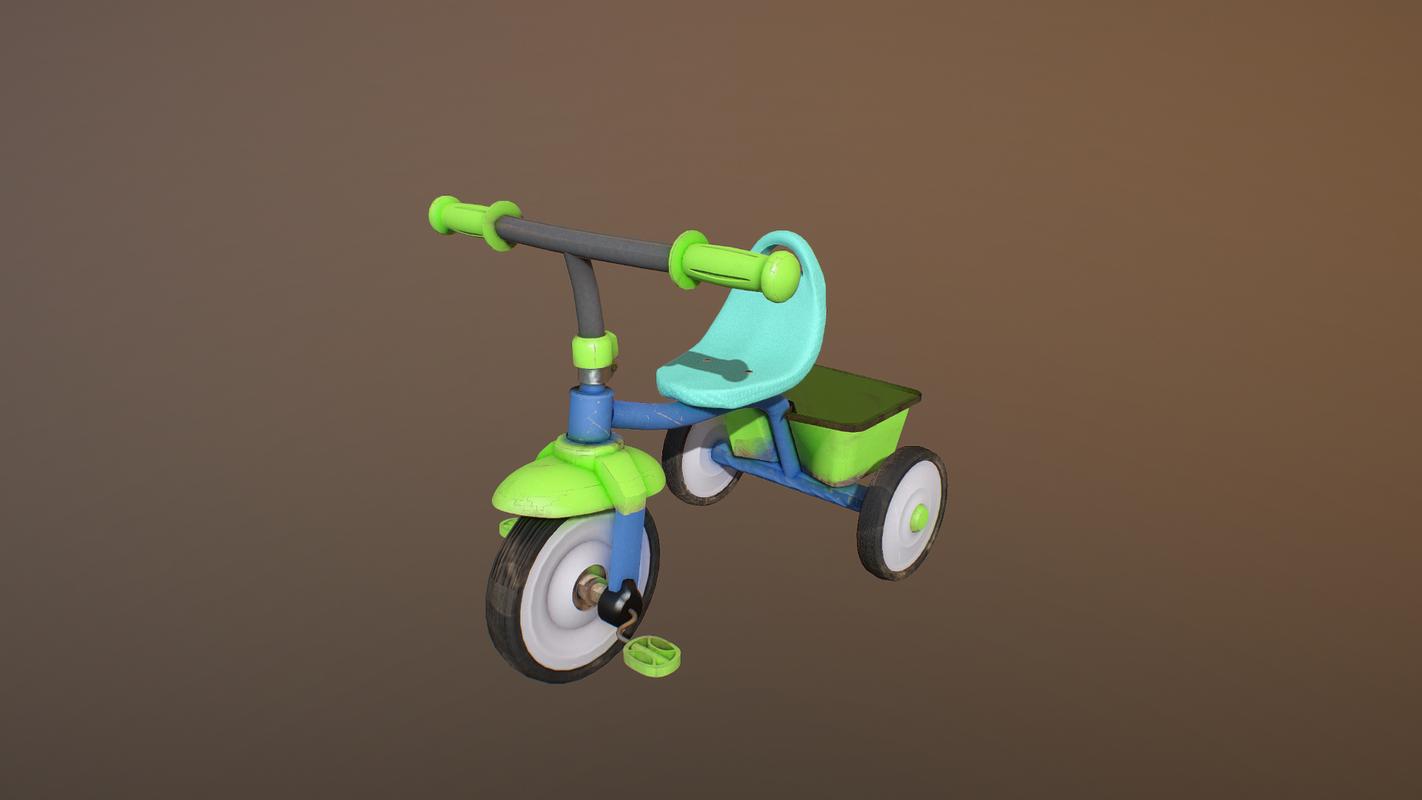 kids bicycle 3D model